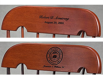 Wooden Childrens rocking chair with personalized date or seal