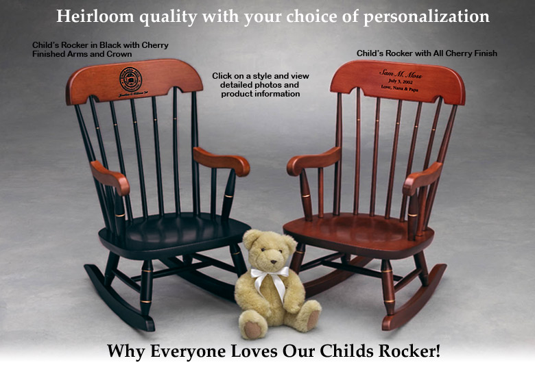 Child's Rocker - Childrens Rocking Chair - Heirloom Rocking Chair